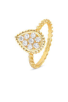 Serpent Boheme Ring in yellow gold Pear large model:Yellow gold:52