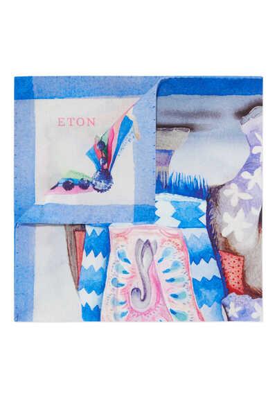 Elephant Print Pocket Square