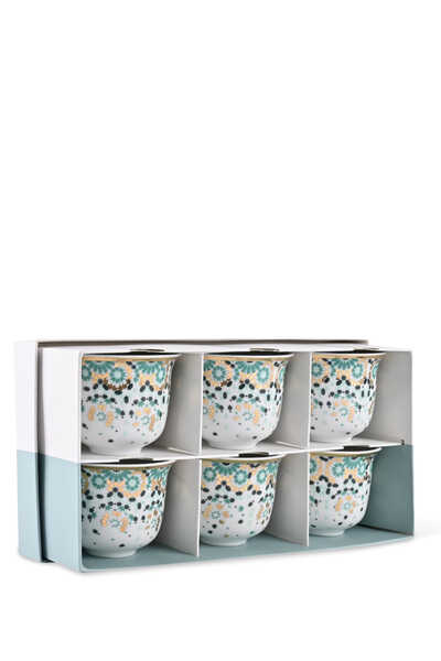 Mirrors Arabic Coffee Cups, Set of Six