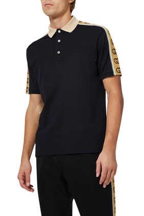 Logo Stripe Polo Shirt