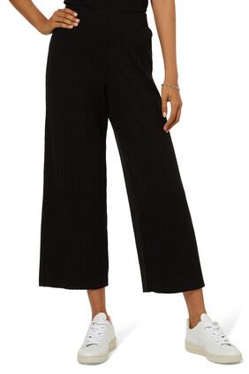 Ribbed Knit Cropped Pants