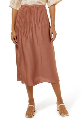 Pleated Panel Skirt