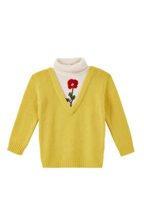 Turtleneck Embroidered Sweater