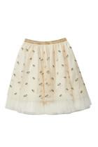 Double G Emrboidery Tulle Skirt