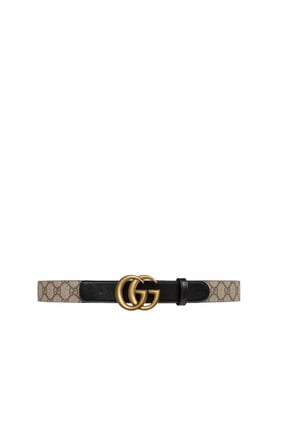 Double-G Buckle GG Leather Belt
