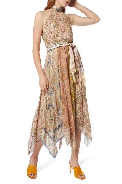 Freja Scarf-Hem Long Dress