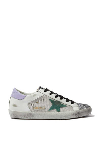Glitter Tongue Superstar Sneakers