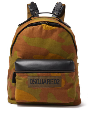 Camo Badge Backpack
