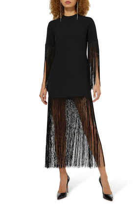 Fringed Midi Dress