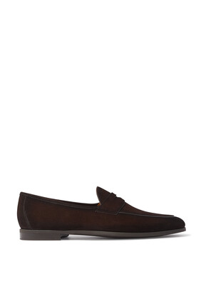 Aston Suede Penny Loafers