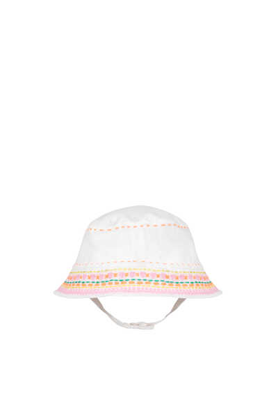 Embroidered Cotton Sun Hat