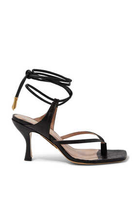 Donna Thong Leather Sandals