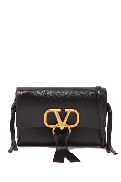 Valentino Garavani Small VRING Leather Crossbody Bag