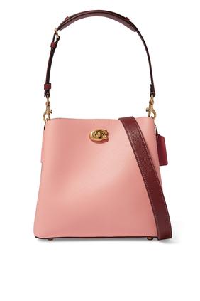 Willow Pebble Leather Bucket Bag