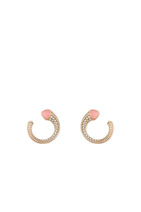 Cleo Venus Pink Opal & Diamond Earrings in 18kt Rose Gold