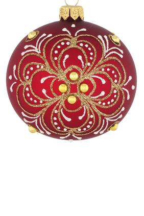 Jeweled Glass Ornament