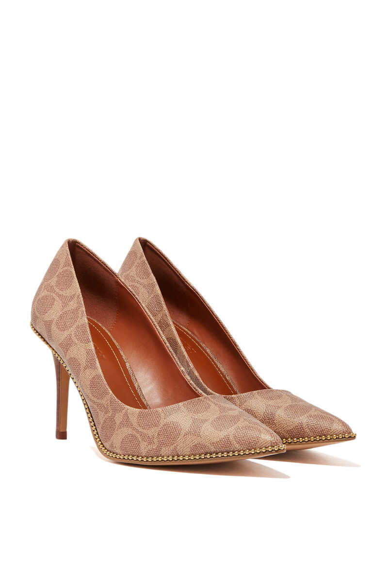 Waverly Signature Coated Canvas Pumps image number 5