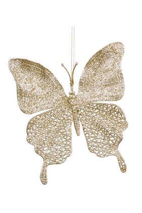 Net Butterfly Glitter Ornament