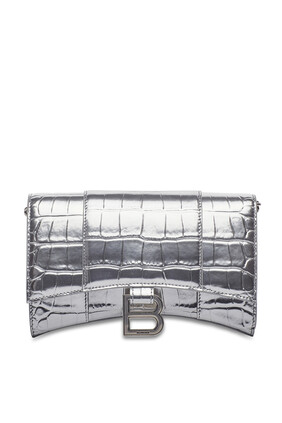 Hour Glass Wallet Chain Bag