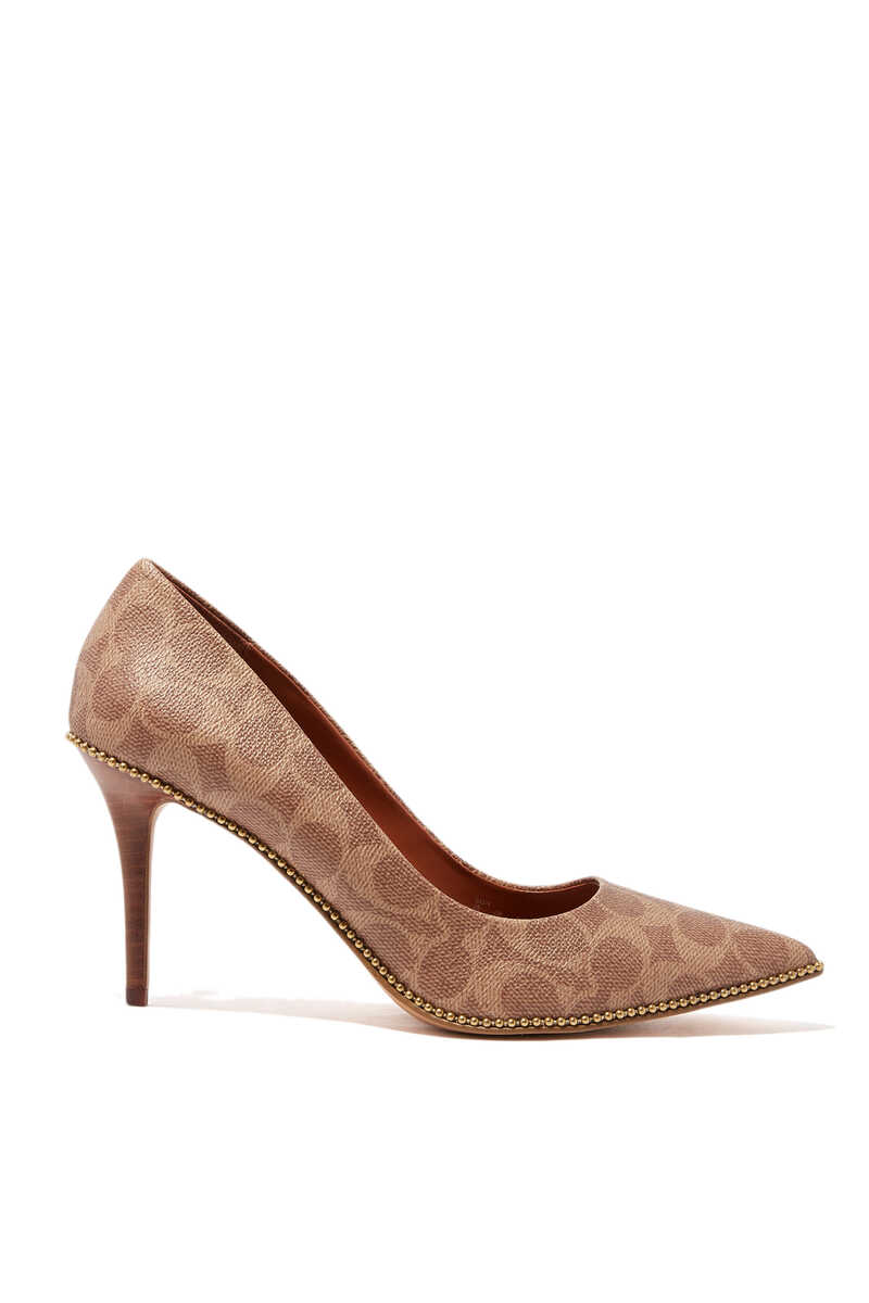 Waverly Signature Coated Canvas Pumps image number 1