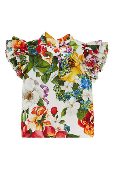 Floral Cotton Poplin Top