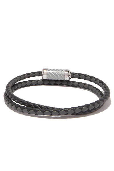 Grey Double-Wrap Montecarlo Bracelet