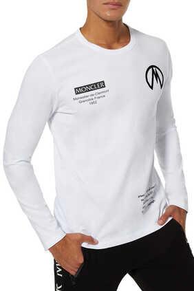 Rubber Logo Long Sleeves T-Shirt