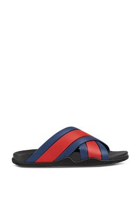 Red Slide Sandals