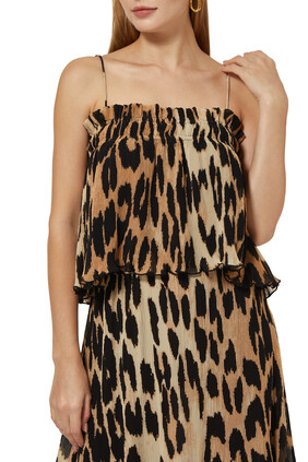 Pleated Georgette Strap Top