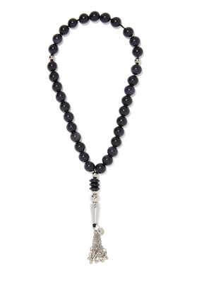 Black Acetate Worry Beads
