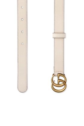 Skinny Leather Double G Belt
