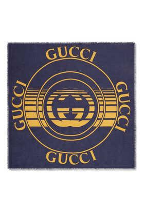 Gucci Disk Print Shawl