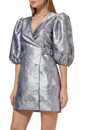 Jacquard Wrap Dress