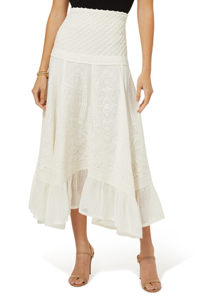 Rebecca Embroidered Lace Skirt