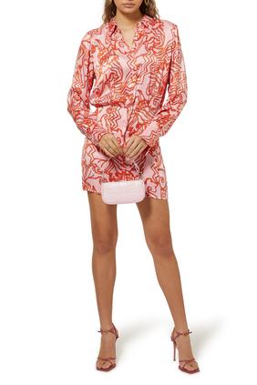 Fluid Reef Print Mini Dress