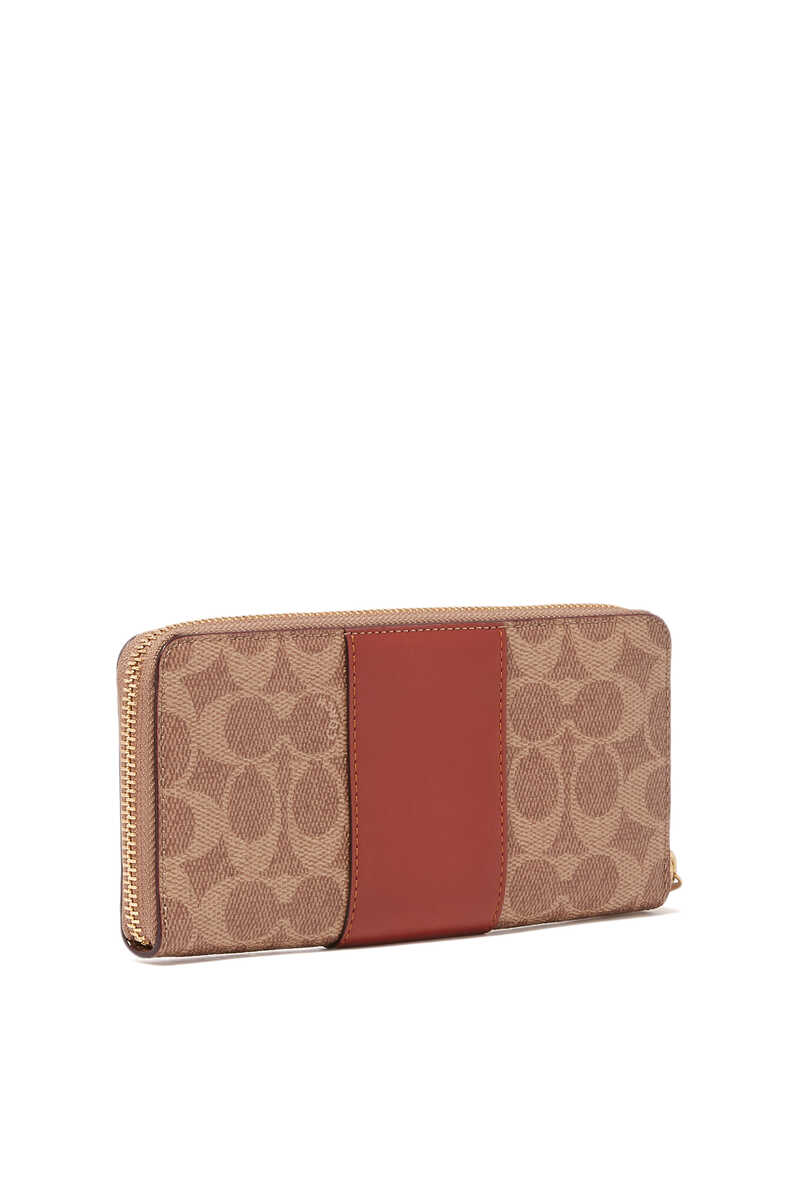 Colorblock Signature Canvas Slim Accordion Zip Wallet image thumbnail number 2