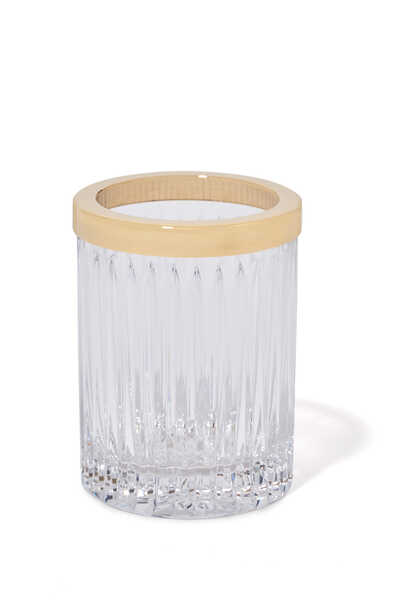ZL Brush Holder Roman Crys. Gold:Gold :One Size