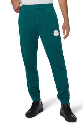 Rubber Logo Cotton Fleece Track Pants