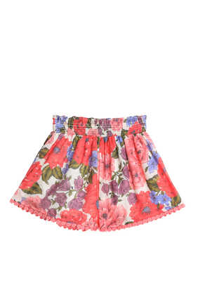 Poppy Shirred Shorts