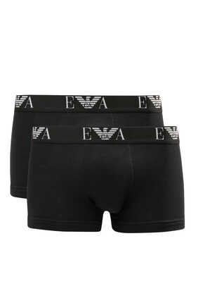 Cotton Stretch EA Logo Boxers, Pack of Two