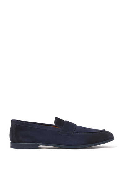 Elba Suede Penny Loafers