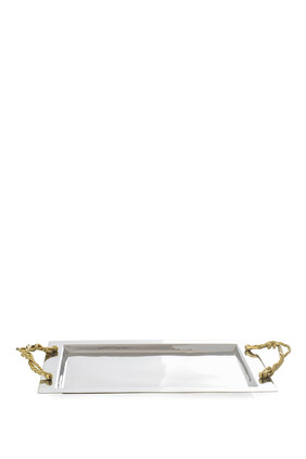 Wisteria Gold Serving Tray