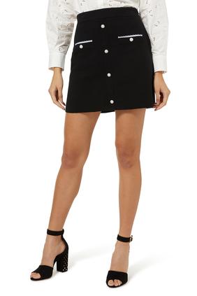 Jidene Embroidered Poplin Skirt