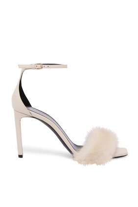 Bea Leather and Mink Sandals