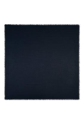Silk Wool GG Jacquard Shawl