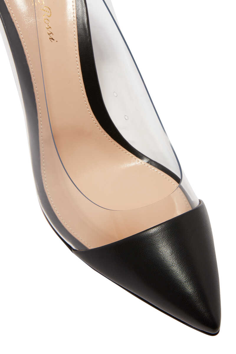 Nappa Leather Plexi Pumps image number 4