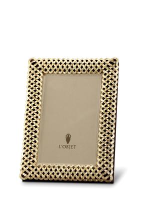Gold-Plated Braid 4x6 Photograph Frame
