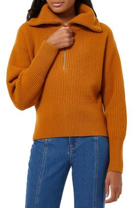 Knit Rib Collar Sweater