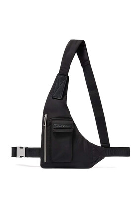 EA Text Nylon Crossbody Beltbag