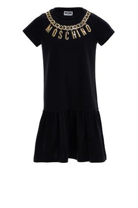 Chain Logo Print Dress